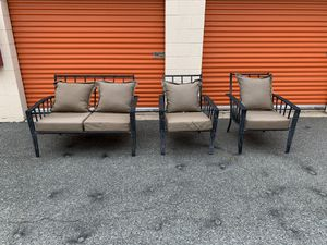 Beautiful patio set bench and two large chairs for Sale in Derwood, MD