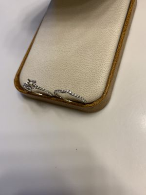 14k white gold engagement ring setting and custom wedding band for Sale in Baton Rouge, LA