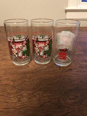 Coke Christmas glasses for Sale in Charlotte, NC