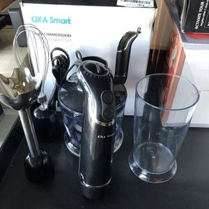 New 4-in-1 OXA Smart Powerful 800W Immersion Hand Blender Processor Mixer 12 Speed Turbo Hand Stick for Sale in Riverside, CA