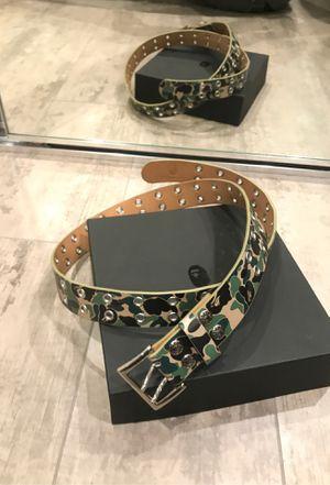 BAPE camo leather Belt for Sale in Glendale, CA