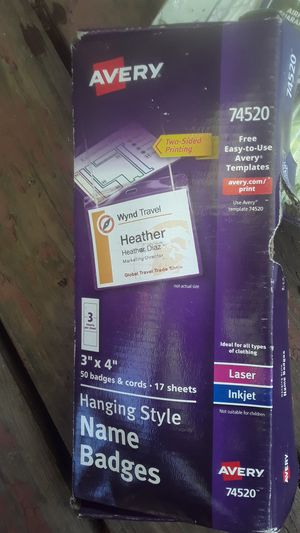 Laser and inkjet name badge. for Sale in Arvada, CO