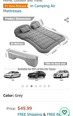 SUV Air Mattress Camping Beds, Inflatable Thickened Car Mattress Backseat. for Sale in Milton, FL