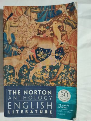The Norton Anthology of English Literature: The Major Authors. Ninth Edition. Volume 1. for Sale in Clovis, CA