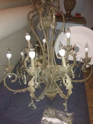Currey Company Wrought Iron & Crystal Chandelier for Sale in Nashville, TN