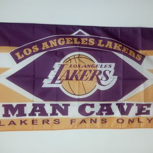 Brand New NBA Los Angeles Lakers Man Cave Flag 3ftX5ft for Sale in Montclair, CA