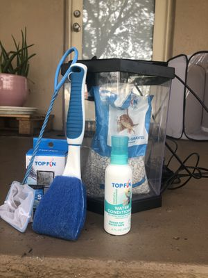 2 Gallon filtered fish tank and supplies for Sale in Tampa, FL