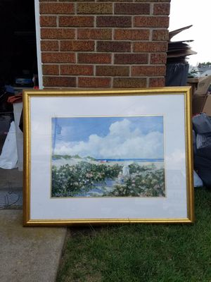 '94 gold framed painting for Sale in Lockport, NY