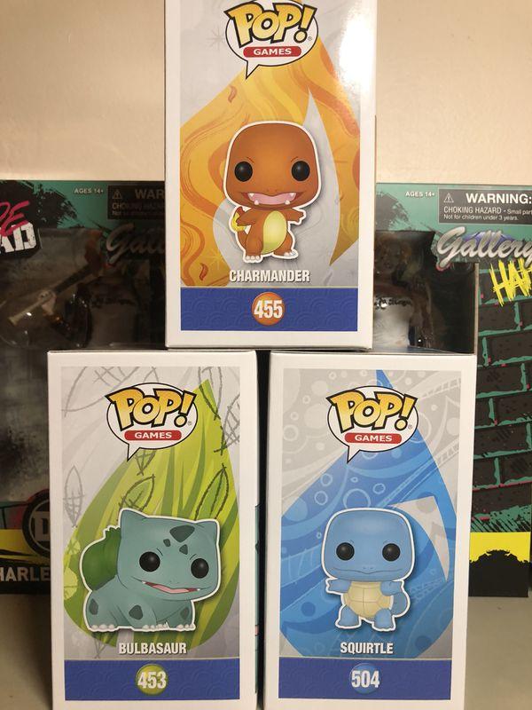 Funko Pokemon Pop Bulbasaur Squirtle Charmander Collectible
