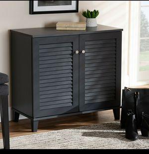 Baxton Studio Coolidge Modern Dark Grey 4-Shelf Shoe Cabinet for Sale in Bellaire, TX