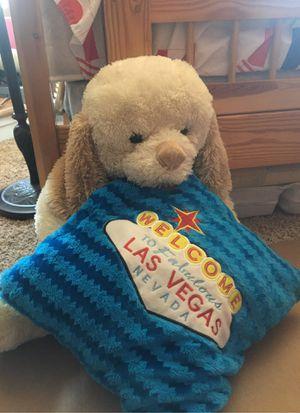 Bear stuffed animal n Las Vegas cushion for Sale in Santee, CA