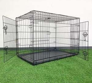 """New $55 Folding 42"""" Dog Cage 2-Door Pet Crate Kennel w/ Tray 42""""x27""""x30"""" for Sale in South El Monte, CA"""