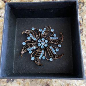 Blue Copper Pinwheel Brooch for Sale in Bradenton, FL