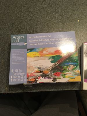 Acrylic paint set and canvas for Sale in Leesburg, VA