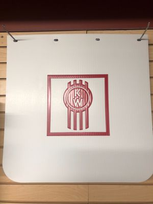"White 24x24 3.2lbs Sage Pass 240"" Grooved, Low Spray, Poly Mud Flaps Kenworth for Sale in San Leandro, CA"