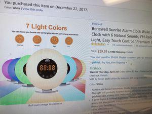 New sunrise alarm clock-FM, 7 color night light for Sale in Tustin, CA