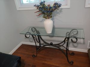 Iron and glass foyer piece. for Sale in Decatur, GA