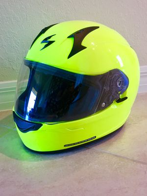 Scorpion exo motorcycle helmet. Neon yellow LARGE for Sale in Venice, FL