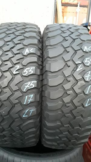 255/75-17 LT #2 tires for Sale in Alexandria, VA