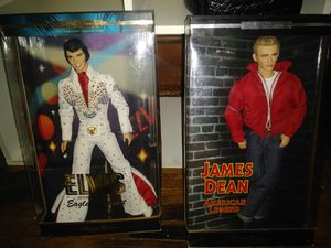elvis and james dean collector dolls. year 2000 for Sale in Columbus, OH