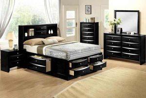 Queen frame. Dresser. Mirror one night stand. Check description F 2 for Sale in Pomona, CA