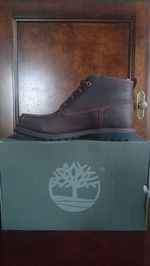 Timberland Men's Grantly Leather Moc Toe Chukka Boot Dr Brown Full Grain us9.5/EU 43.5 MSRP$180 for Sale in Springfield, VA