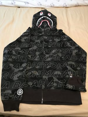 Bape text camo shark hoodie for Sale in Beverly Hills, CA