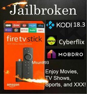 Amazon fire tv stick 2nd gen with Alexa & k o d i for Sale in Skokie, IL