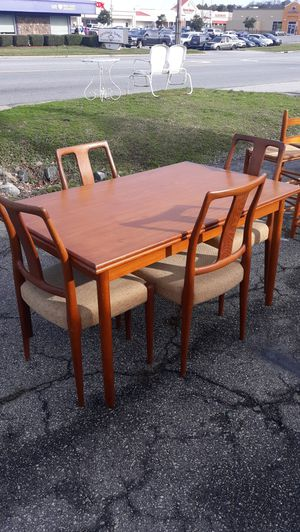 Mobler Teak Wood Danish Denark Table and Chairs Dining Room Set for Sale in High Point, NC
