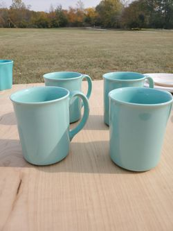 Set of Four Blue Mugs for Sale in Pendleton,  IN