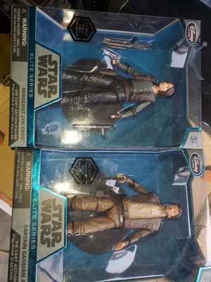 Jane Erso & Cassian DIECAST STAR WARS ACTION FIGURE both $30 for Sale in Fresno, CA