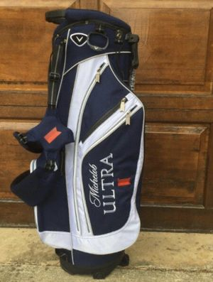 Callaway Chev Michelob Ultra Golf 7-Way Stand Carry Bag Blue White for Sale in Annandale, VA