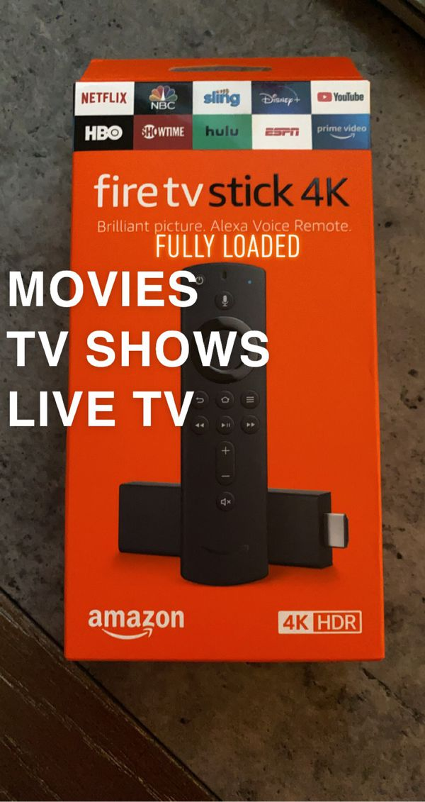 Fire TV 4K Stick With Alexa Voice Remote 2020
