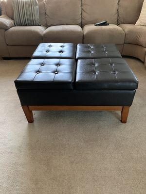 Leather ottoman table espresso brown for Sale in Spotswood, NJ