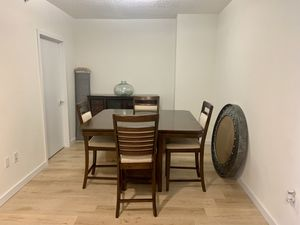Counter Height Dining Table, 4 chairs, Buffet for Sale in Miami, FL