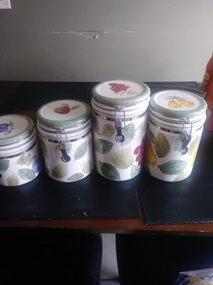 Don't know but nice fruit canister set for Sale in Columbus, OH