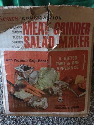 Vintage meat grinder $30 firm for Sale in Dinuba, CA