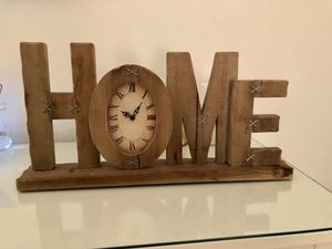 """""""HOME"""" wooden decor with a oval clock made for any room! for Sale in Jersey City, NJ"""