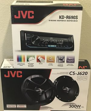 "New JVC 200 Watts Car Audio CD/MP3/USB/AUX/Pandora/Sirius XM Car Stereo Receiver + (2) JVC 6.5"" inch Speakers Combo 🔊🔥 for Sale in Hemet, CA"