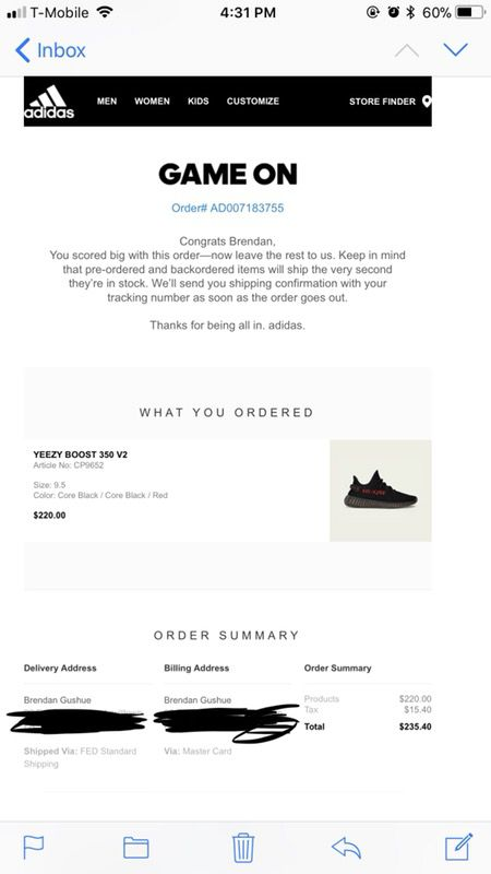 lowest discount where to buy new lifestyle Yeezy 350 V2 'Bred' / Size 9.5 / Brand new / With email ...