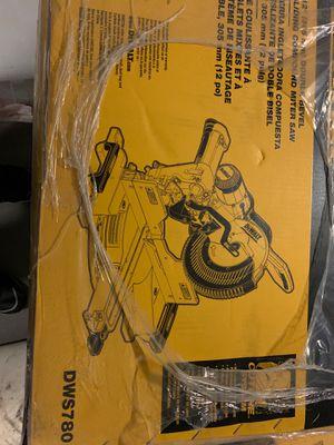 "Dewalt 12"" double bevel sliding compound miter saw for Sale in University Place, WA"