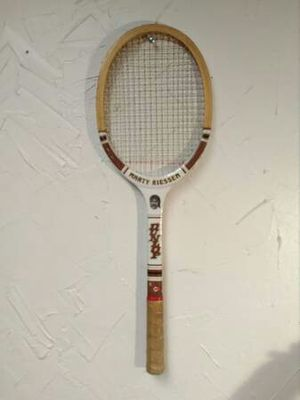 70s Marty Riessen Autograph Dunlop Tennis Racket Advisory Staff Model for Sale in Oklahoma City, OK