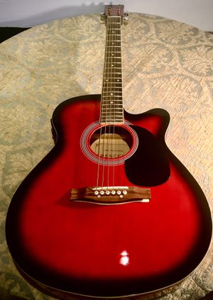 Hand made top quality guitar Crescent with electric switchboard L40xW15xD3.5 inch Lbs 4.5 for Sale in Chandler, AZ