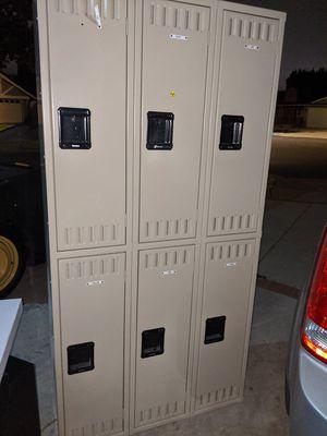 2 tier 3 wide 6 door steel constructed metal locker storage unit for Sale in Garden Grove, CA