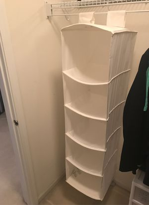 Fabric closet organizer for Sale in Plainfield, IL