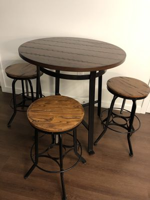 Bar height table with adjustable height stools for Sale in Mercer Island, WA