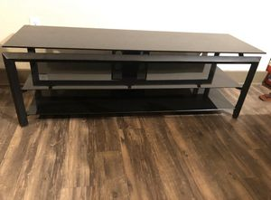 Glass and Metal Frame TV Stand in Excellent Conditions Length 59 Height 20 Width 18 for Sale in TEMPLE TERR, FL