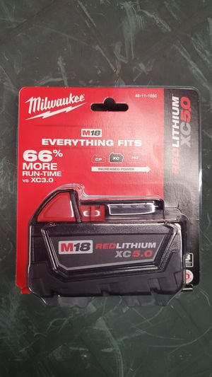 milwaukee m18 5.0xc battery for Sale in Villa Park, IL