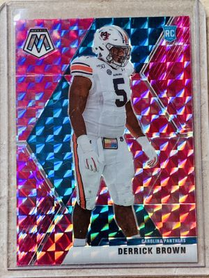 NFL 2020 Panini Mosaic Pink Carolina Panthers Derrick Brown Insert Rookie Card for Sale in North Ridgeville, OH