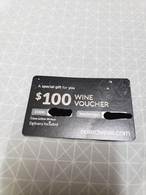 $100 Wine Voucher for Sale in San Jose, CA